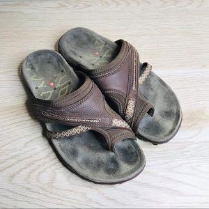 🔥 SALE Merrell Dark Earth Flip Flop Style Sandal